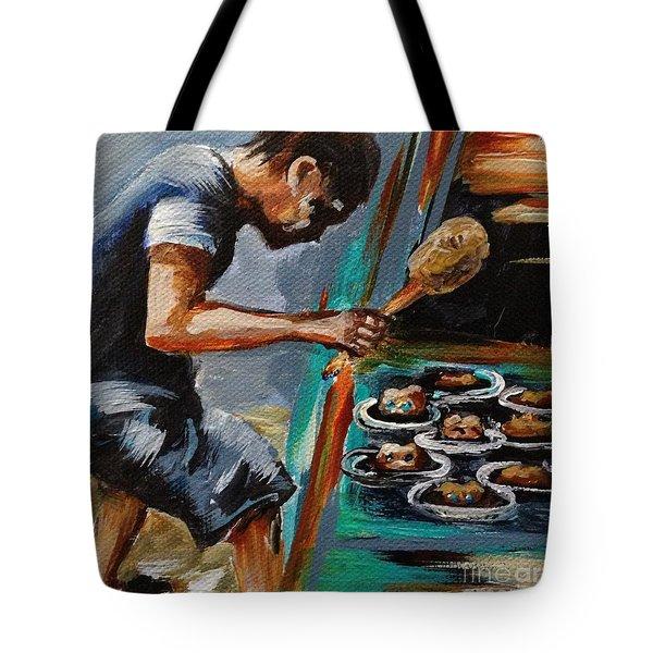Whack A Mole Tote Bag by Karen  Ferrand Carroll