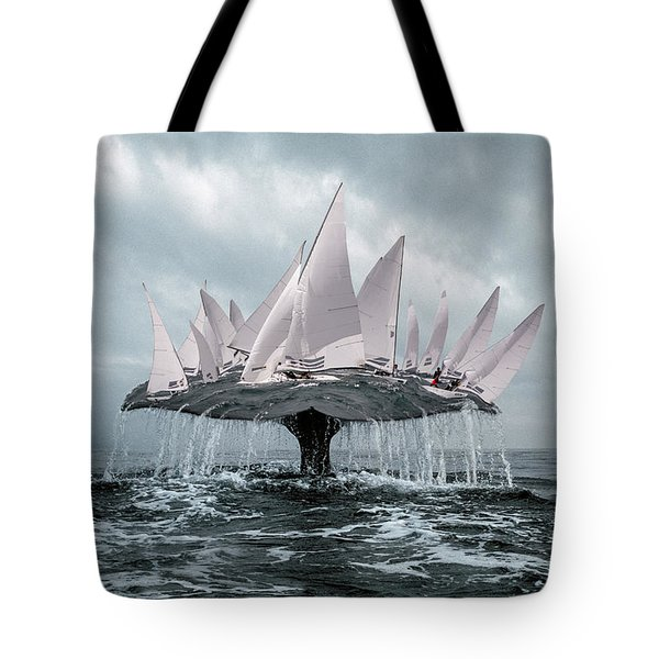 Tote Bag featuring the pyrography Whale by Evgeniy Lankin
