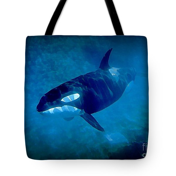 Whale Tote Bag by John Malone