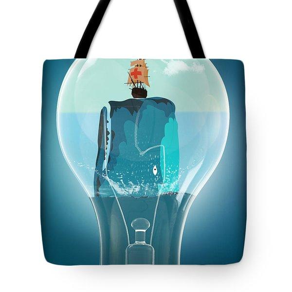 Whale Lights  Tote Bag by Mark Ashkenazi