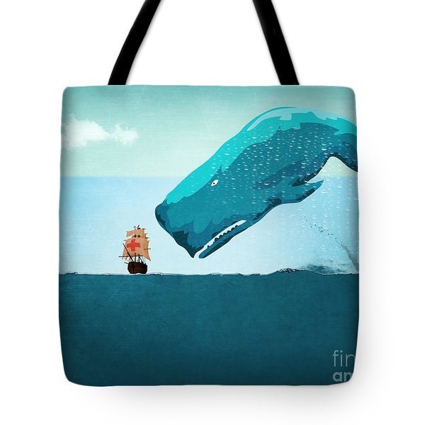 Whale Tote Bag by Mark Ashkenazi