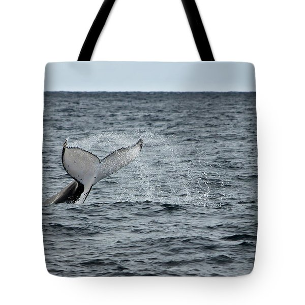 Tote Bag featuring the photograph Whale Of A Time by Miroslava Jurcik