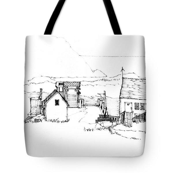Wharf Monhegan Island 1987 Tote Bag