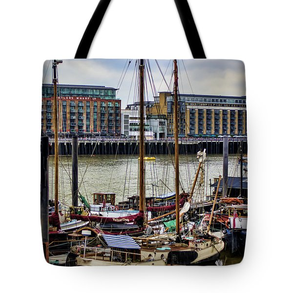 Wharf Ships Tote Bag by Heather Applegate