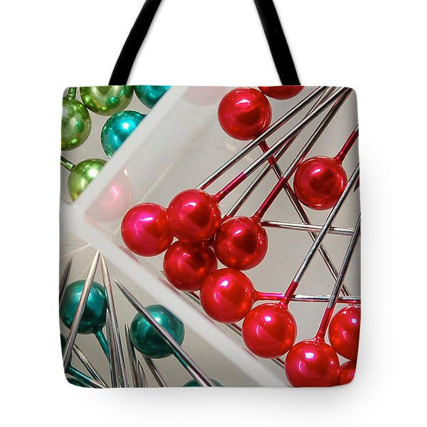 Tote Bag featuring the digital art What A Buncha Pinheads by Margie Chapman