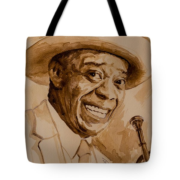 Tote Bag featuring the painting What A Wonderful World by Laur Iduc