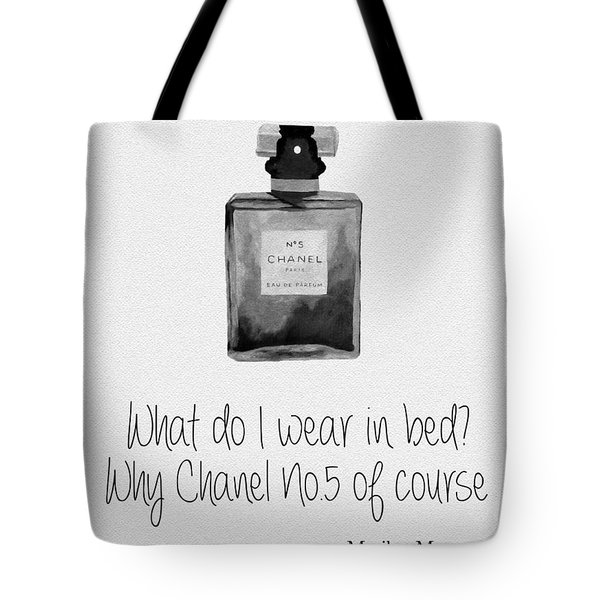 What Do I Wear In Bed? Black And White Tote Bag
