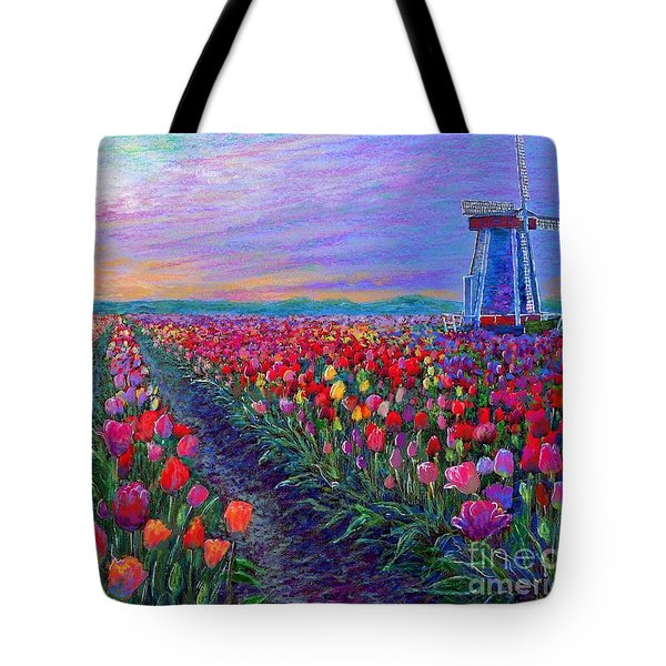 Tulip Fields, What Dreams May Come Tote Bag