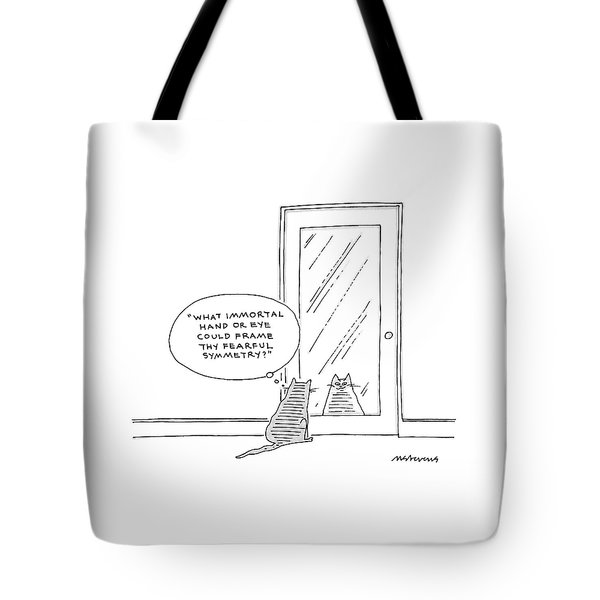 What Immortal Hand Or Eye Could Frame Thy Fearful Tote Bag