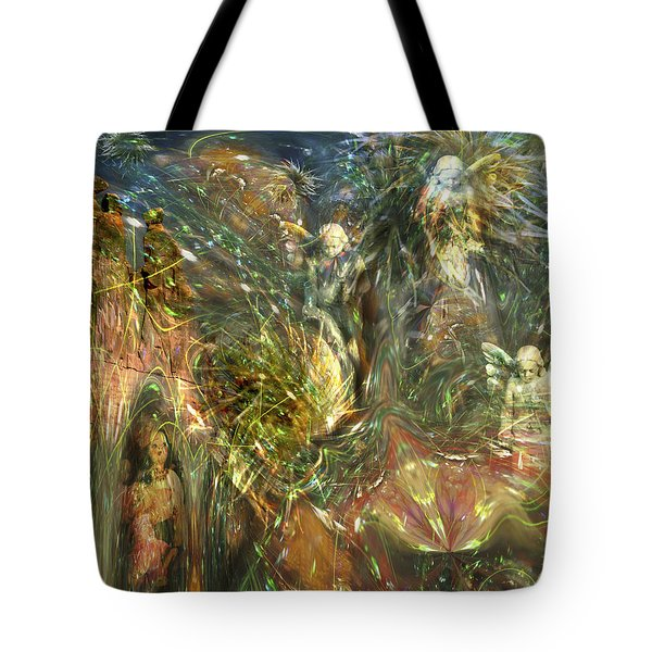 What Is Behind That Curtain? Tote Bag