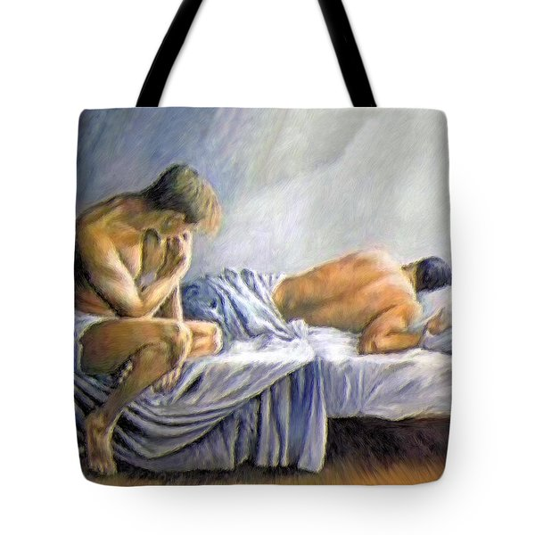 What Is He Dreaming Tote Bag