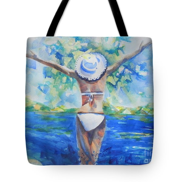 What Lies Ahead Series Forgive Tote Bag by Chrisann Ellis