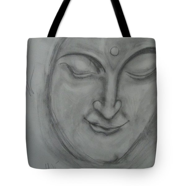 Tote Bag featuring the drawing What Must It Be by Sharyn Winters