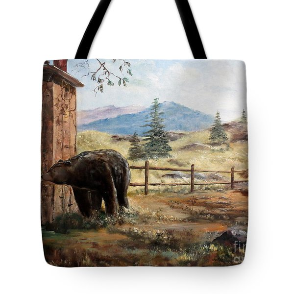 Tote Bag featuring the painting What Now by Lee Piper