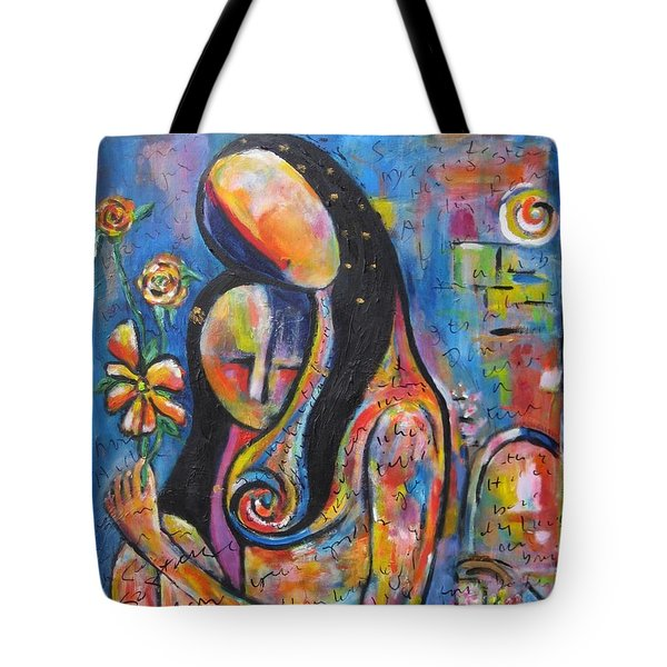 What We Leave Behind Tote Bag by Chaline Ouellet