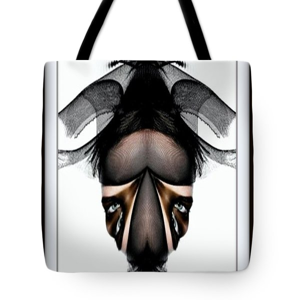 Tote Bag featuring the painting What You See Is What You Get? by Rafael Salazar