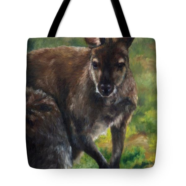 What'ch Ya Doin' Tote Bag by Lori Brackett
