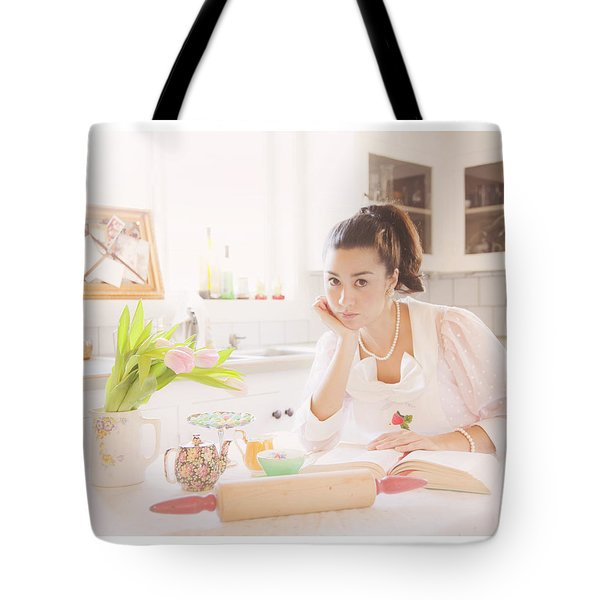 What's For Dinner Tote Bag by Theresa Tahara