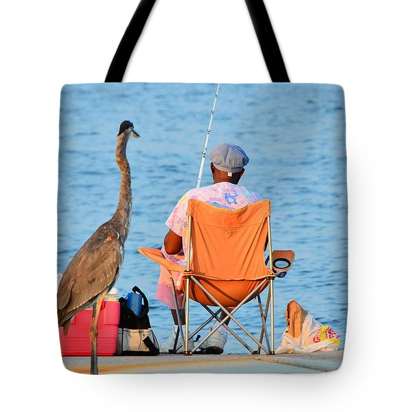Tote Bag featuring the photograph What's For Lunch by Charlotte Schafer
