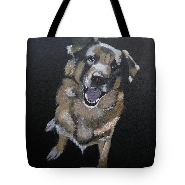 Tote Bag featuring the painting What's Up by Richard Le Page
