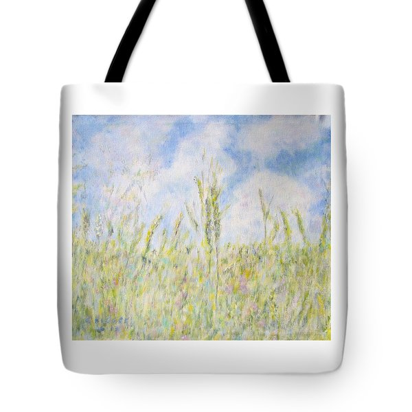 Wheat Field And Wildflowers Tote Bag