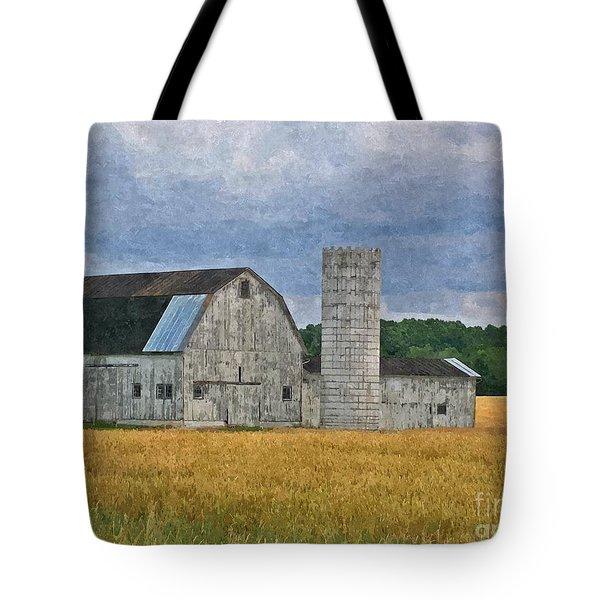 Wheat Field Barn Tote Bag