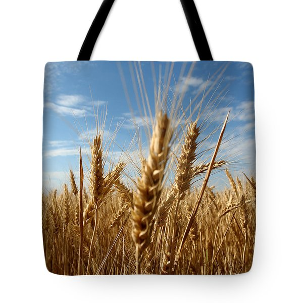 Wheat Field In A Sunny Summer Day Tote Bag