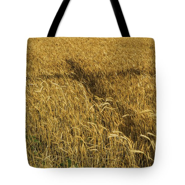 Tote Bag featuring the photograph Wheat With Cross  by Rob Graham