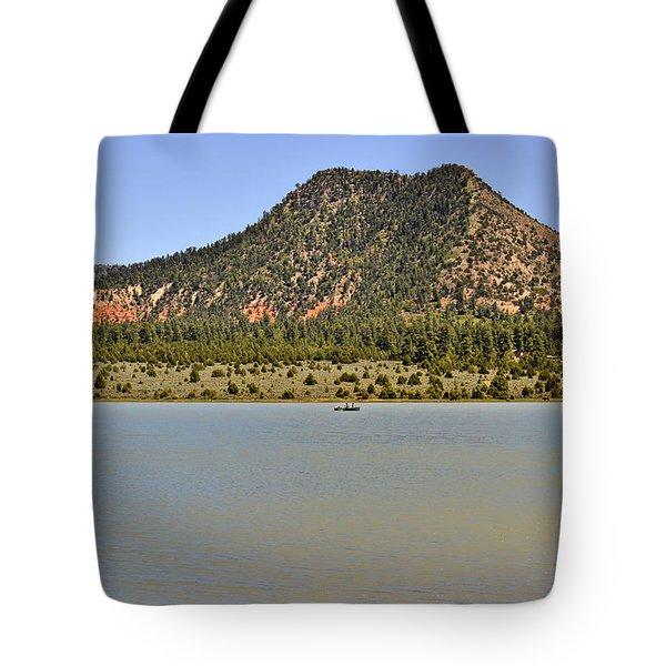 Wheatfields Lake - Chuska Mountains Tote Bag by Christine Till