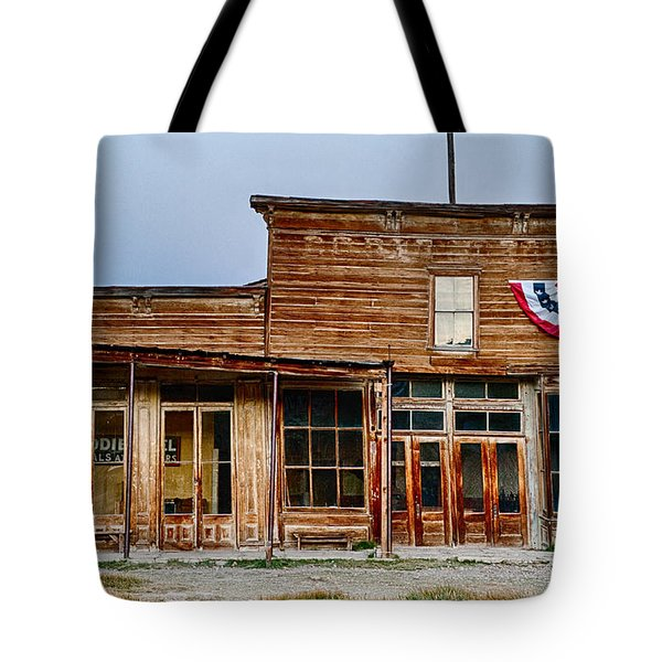 Wheaton And Hollis Hotel At Blue Hour Tote Bag