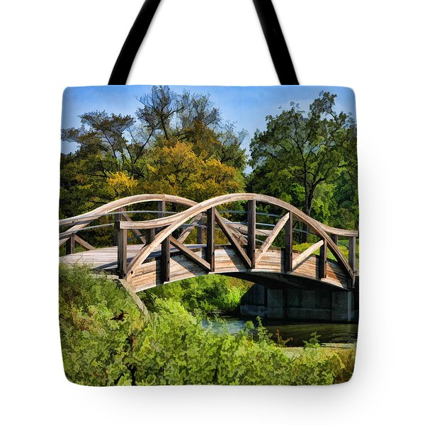 Wheaton Northside Park Bridge Tote Bag by Christopher Arndt