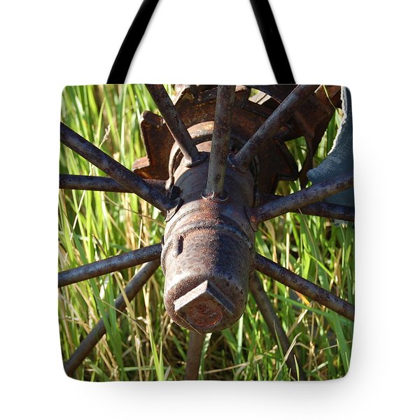 Tote Bag featuring the photograph Wheel by Mim White