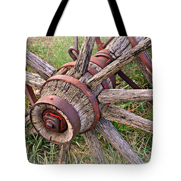 Wheel Of Old Tote Bag by Marty Koch