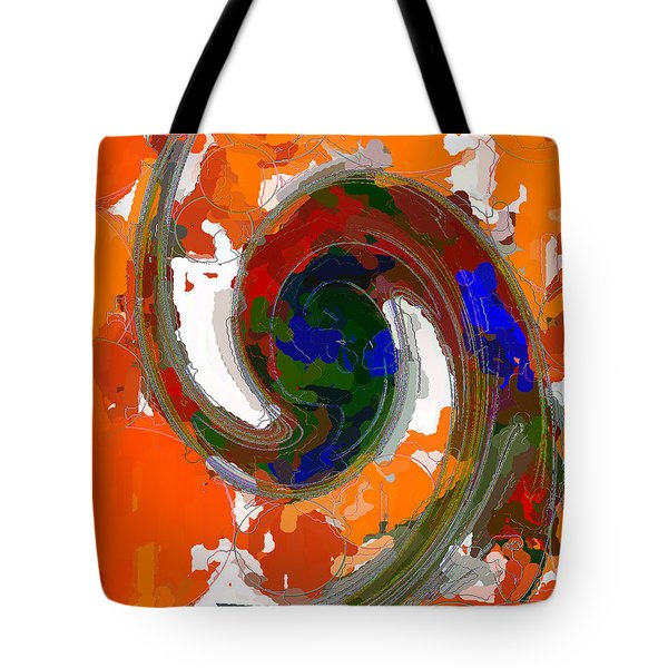 Tote Bag featuring the painting Wheel Of Prayer by Roy Erickson