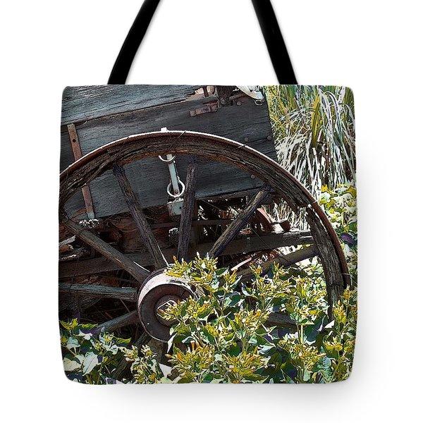 Wheels In The Garden Tote Bag