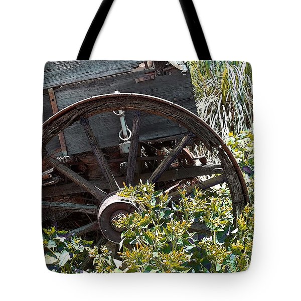 Wheels In The Garden Tote Bag