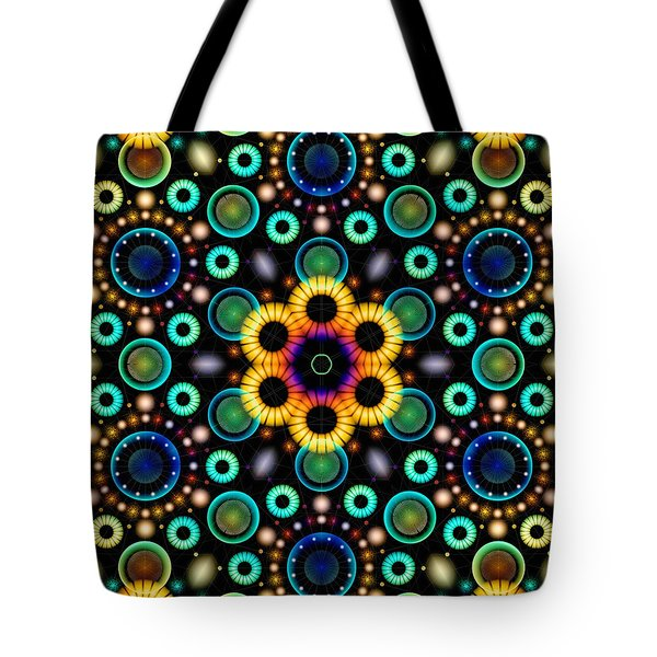 Wheels Of Light Tote Bag