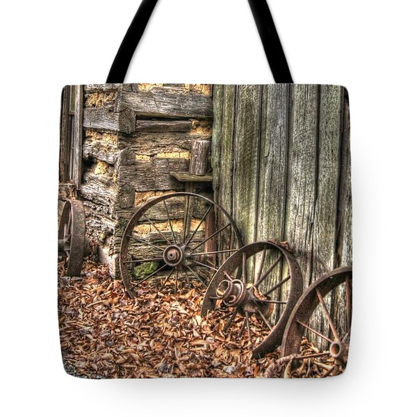 Wheels Of Time Two Tote Bag by Benanne Stiens