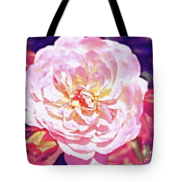 Tote Bag featuring the photograph When A Rose Blushes... by Kimberlee Baxter