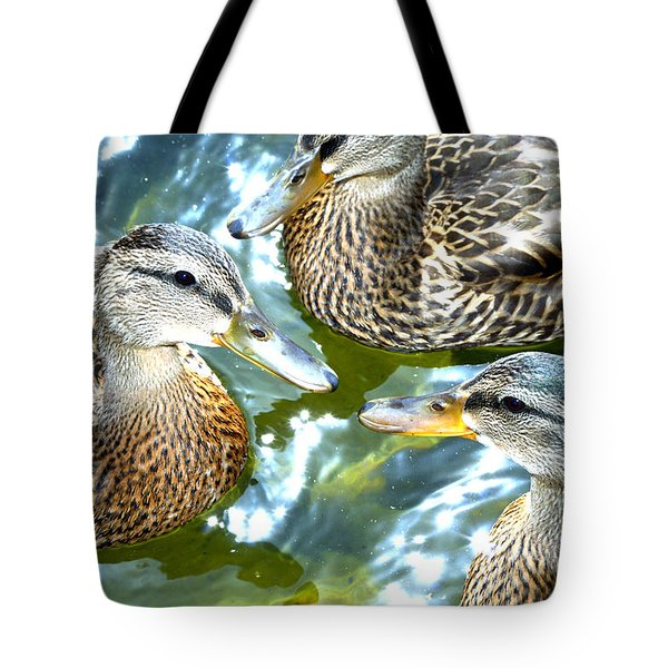 When Duck Bills Meet Tote Bag by Lesa Fine