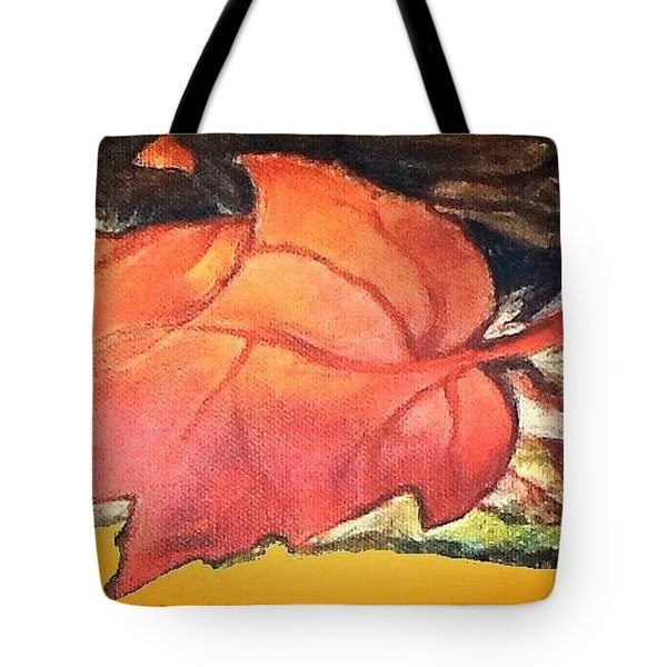 Tote Bag featuring the mixed media When The Earth Fell Down On Me by Kimberlee Baxter