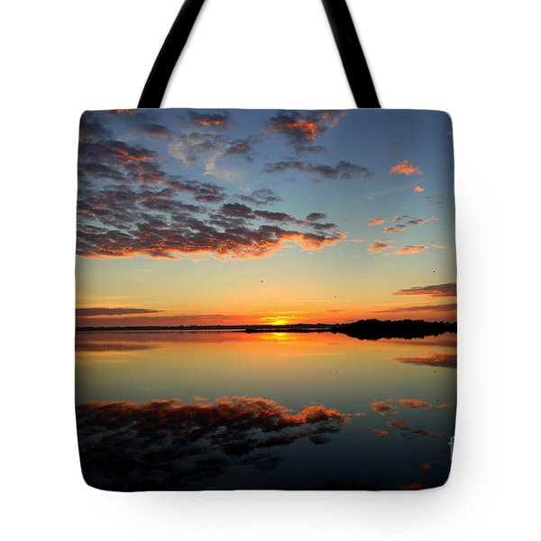 When Heaven Blankets The Earth Tote Bag by Karen Wiles