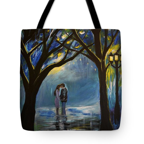 When I Fall In Love Tote Bag by Leslie Allen
