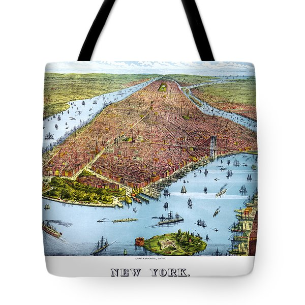 When New York Was Flat Tote Bag by Georgia Fowler
