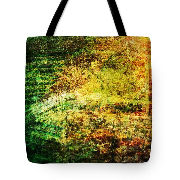 Tote Bag featuring the mixed media When Past And Present Intersect #1 by Sandy MacGowan