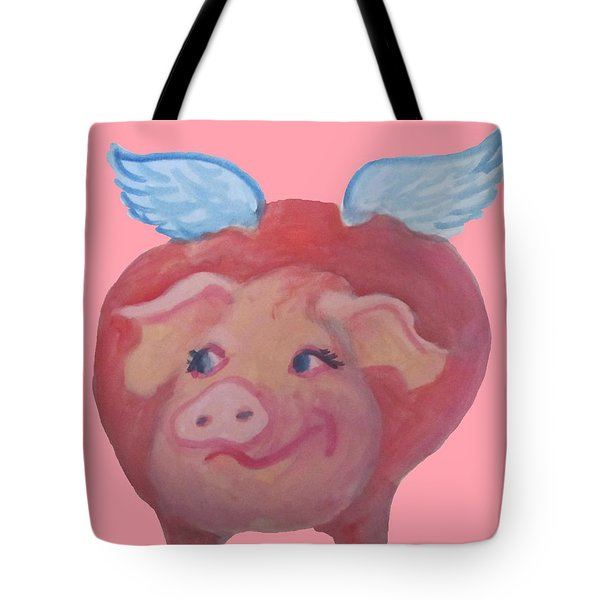 When Pigs Fly Tote Bag by Cherie Sexsmith