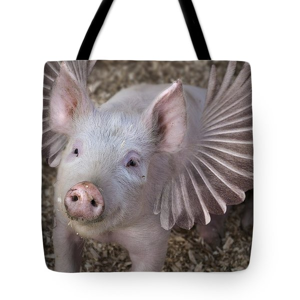 When Pigs Fly Tote Bag by Rick Mosher