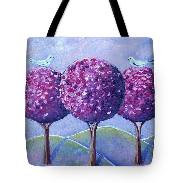 When The Cherry Trees Are Blooming Tote Bag