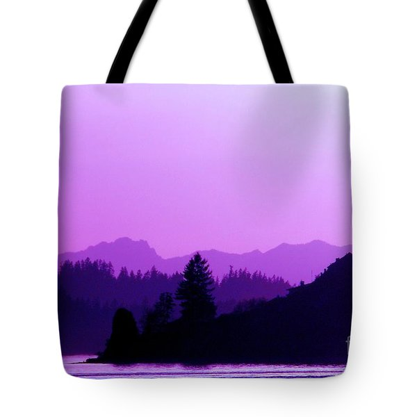 Tote Bag featuring the photograph When The Deep Purple Falls by Chris Anderson