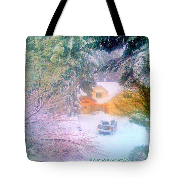 When The Snow Falls Tote Bag